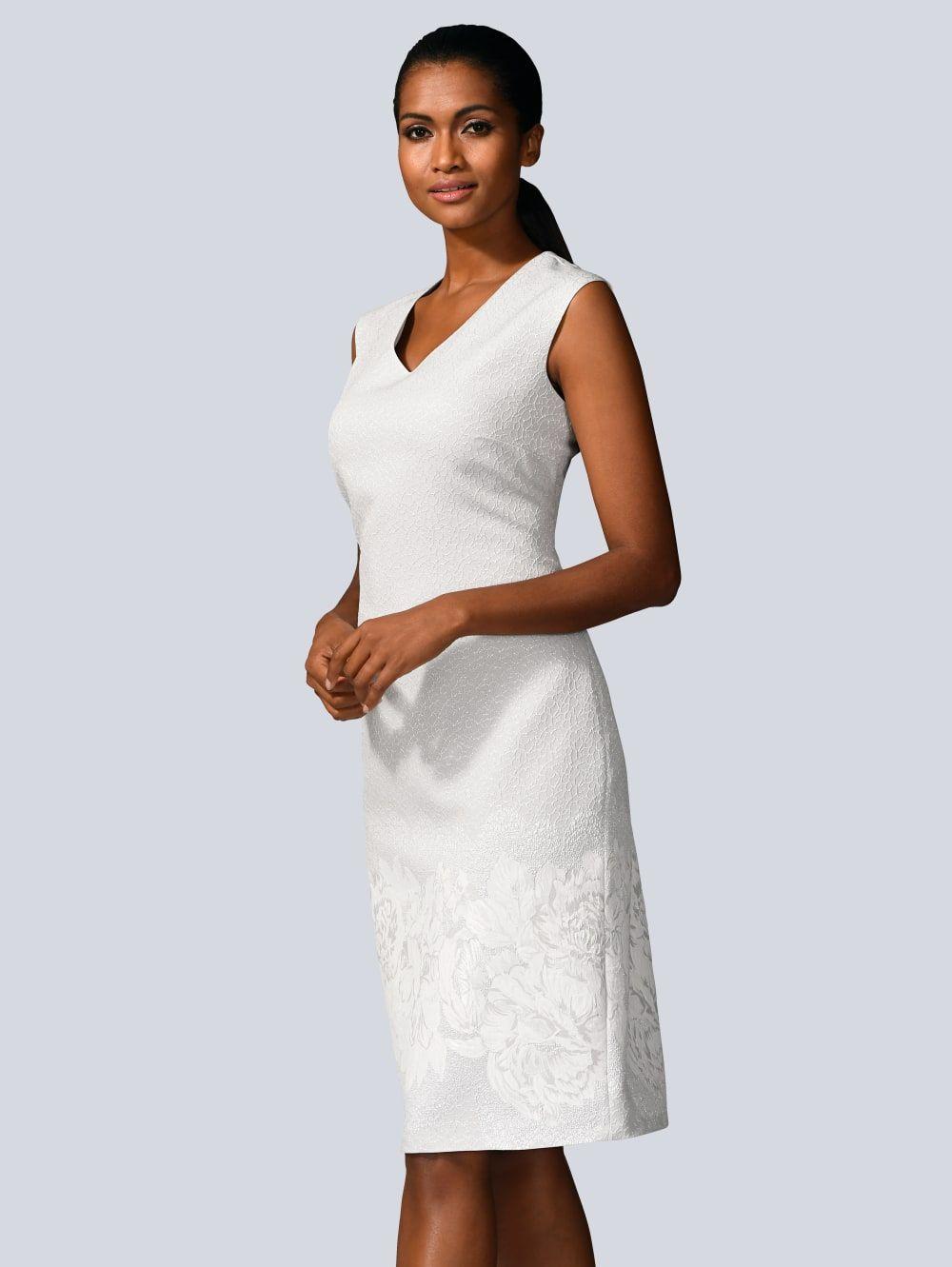 alba moda kleid mit chiffonüberwurf   alba moda   kleider