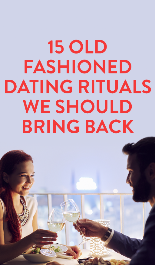 Old fashioned dating rituals
