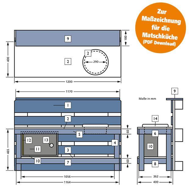 Matschkuche Aus Paletten Selber Bauen Globus Baumarkt In 2020