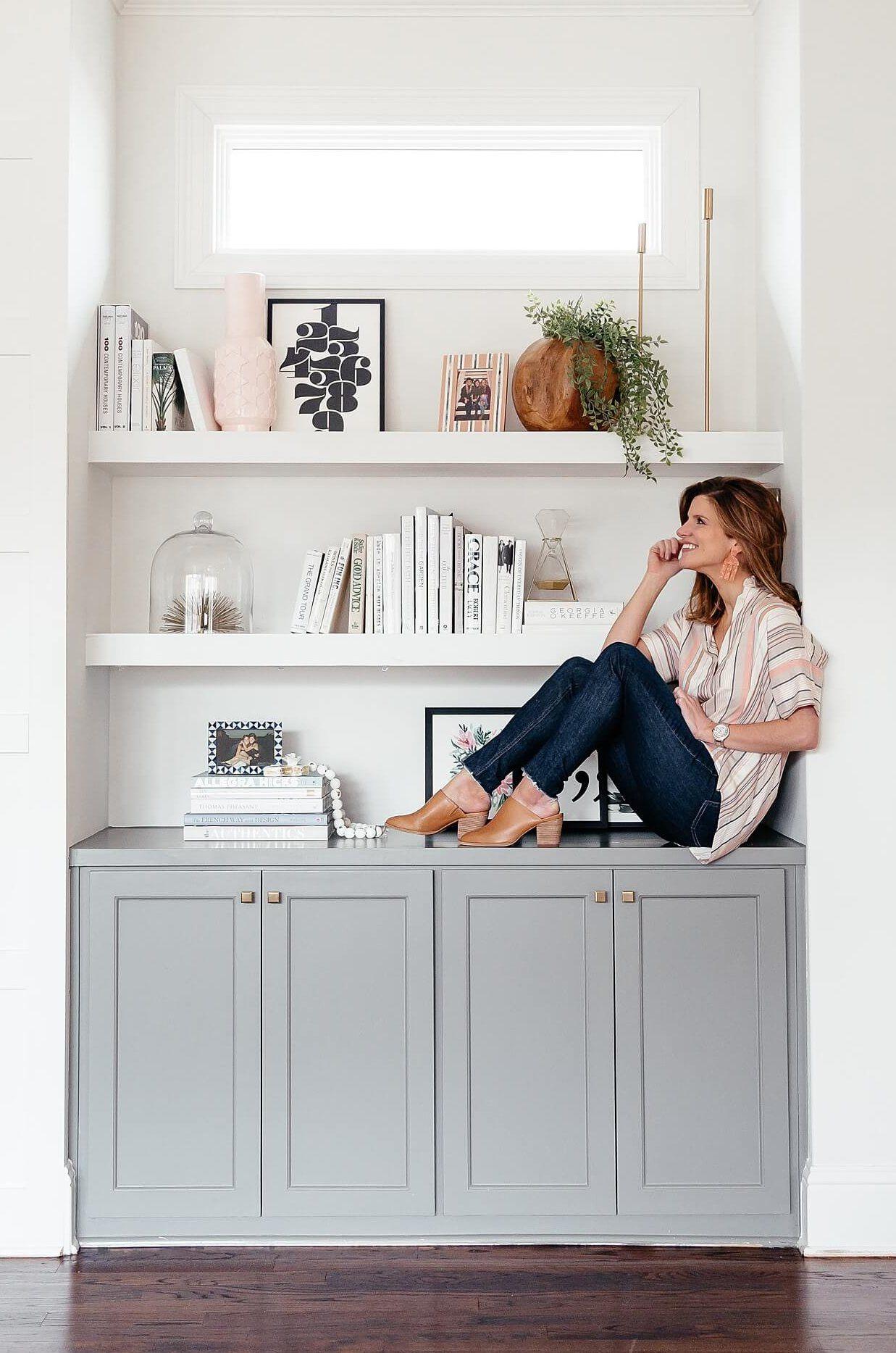 How To Style Bookshelves Brightontheday Bookshelves In Li