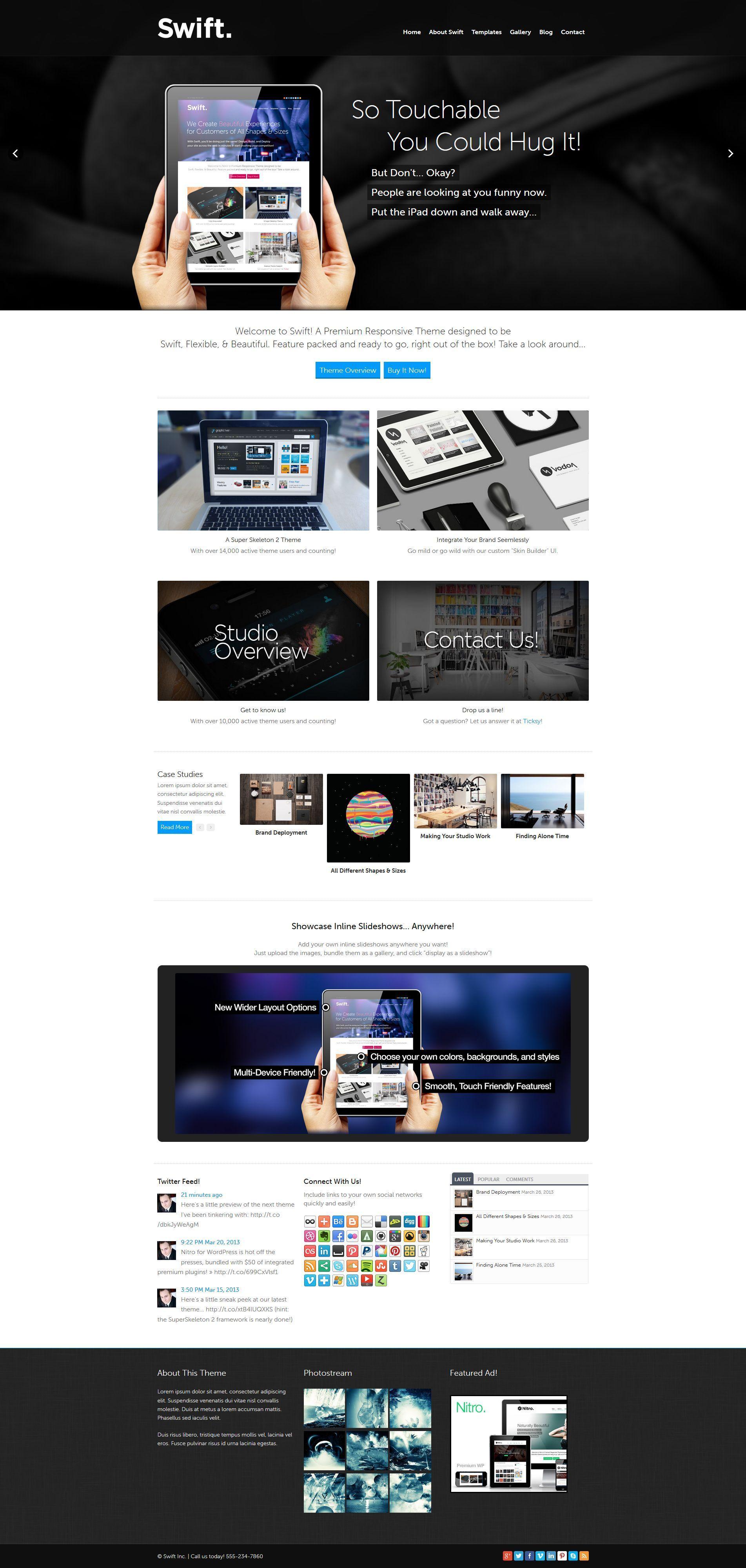 Swift: A Wide Screen Responsive Theme #wordpress #theme #website ...
