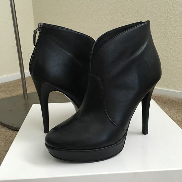 "Alexandre Birman Platform Booties Black leather, back zip, 4.75"" heel and 1"" platform. Light wear to outer edges, hard to see. Overall good condition. Runs small, in my opinion. Alexandre Birman Shoes Ankle Boots & Booties"