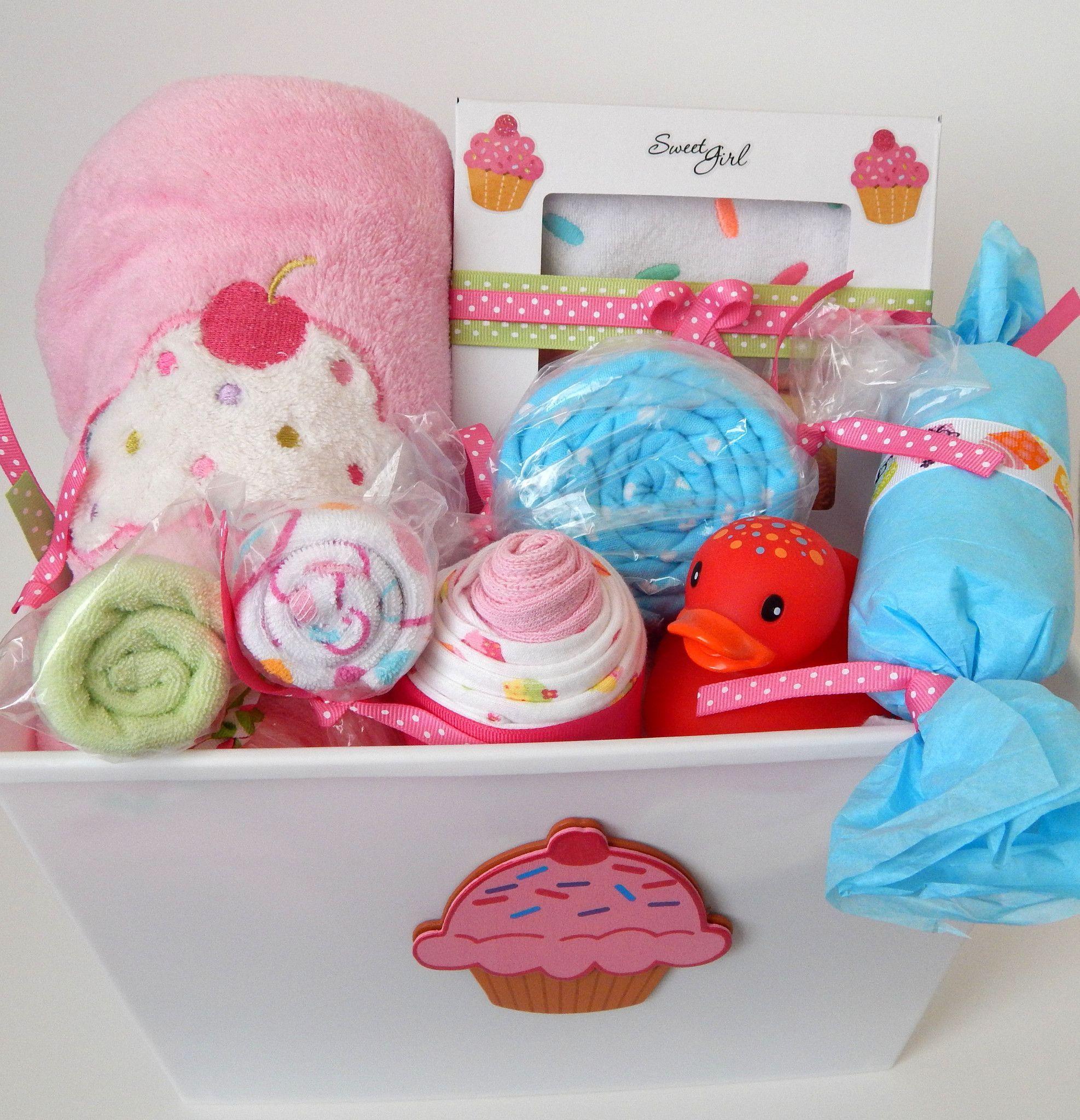cupcake baby shower gift basket baby girl shower themes baby girl