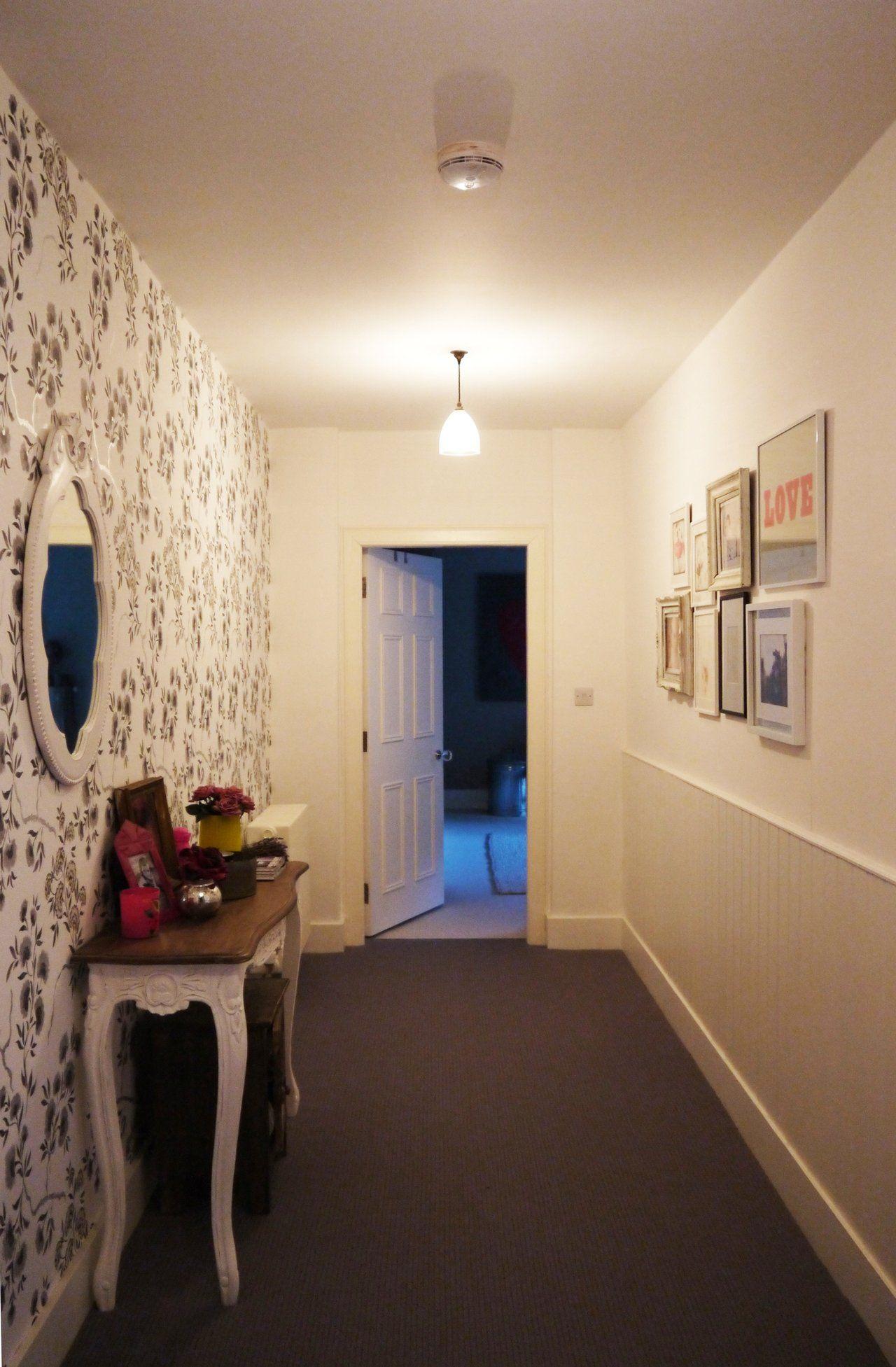 Hallway and stairs wallpaper  Chris and Samus Elegant Family Duplex in Edinburgh u House Tour
