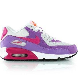 premium selection 188b1 9e8bd Nike Air Max 90 Dam Sneakers purpurvitapink neon sverige online