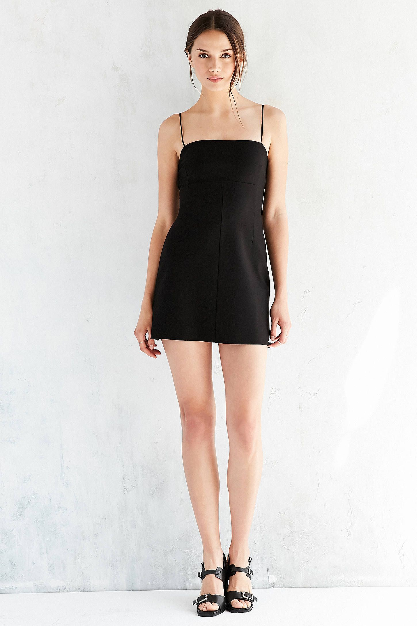 42ab3df2aaf1a Silence + Noise Audrey Black A-Line Mini Slip Dress | Urban Outfitters