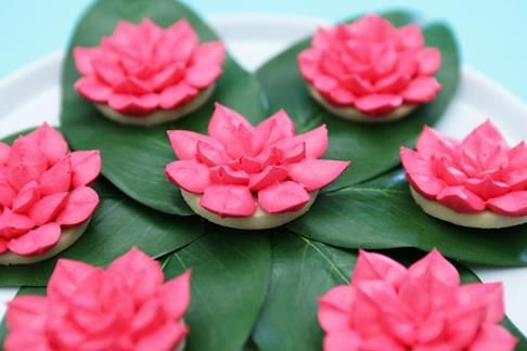 Lotus Flower Cookies From The Movie Percy Jackson Nerdynummies