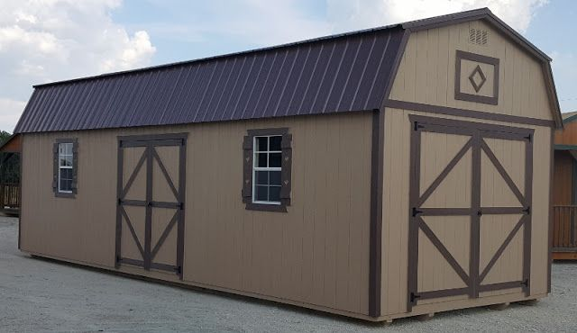 side lofted barn storage shed portable building in stock for quick delivery cash or no credit check rent to ow - Garden Sheds Quick Delivery