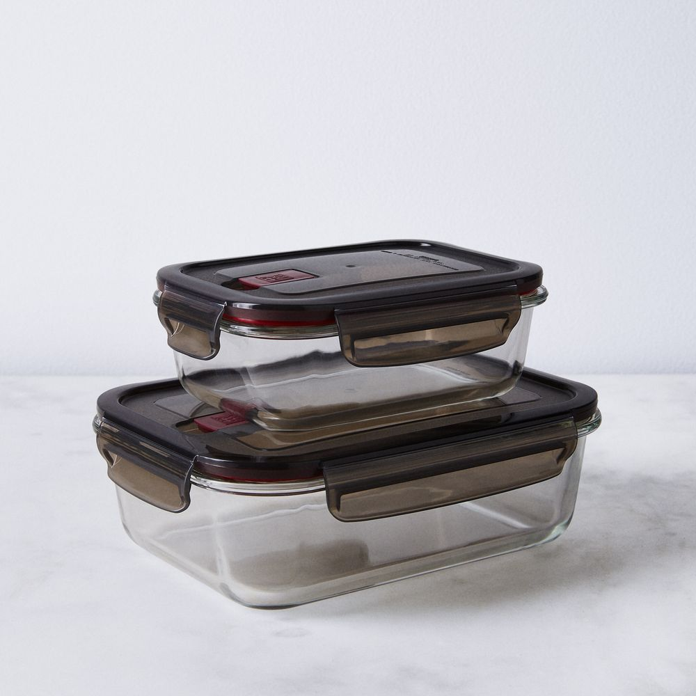 Borosilicate Glass Storage Container Set Of 2 Glass Storage Containers Glass Storage Borosilicate Glass
