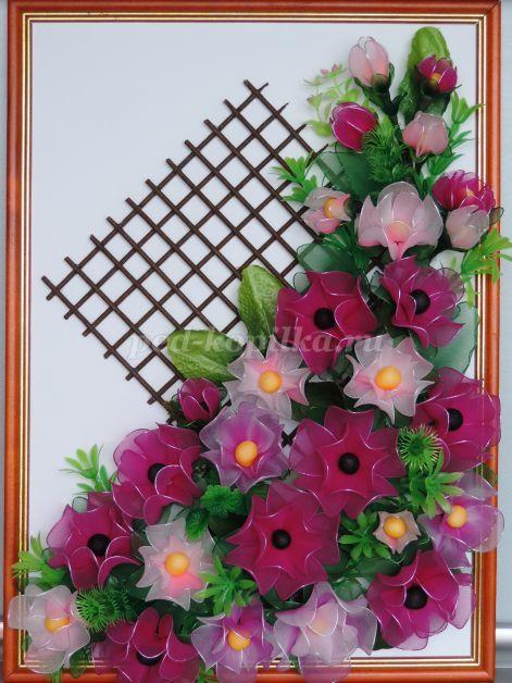 Панно из цветов на стену своими руками. Мастер-класс с фото