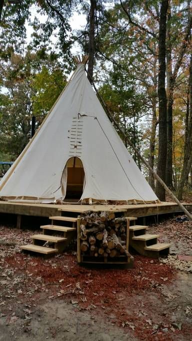 Upscale Camping in Authentic Indian Tipi - Tipis for Rent in