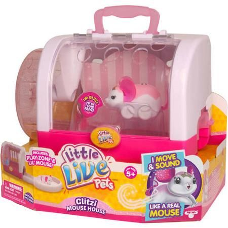 Moose Toys Little Live Pets Season 1 Glitzi Mouse House Exclusive Walmart Com Little Live Pets Moose Toys Pet Mice
