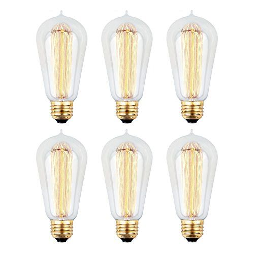 Edison Bulb Kinhom 60 Watt 110 130v Nostalgic Exposed Fi Https Www Amazon Com Dp B01hedn8 Dimmable Light Bulbs Edison Light Bulbs Incandescent Light Bulb