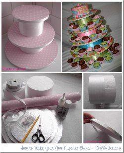 DIY Cupcake Display Ideas | Cupcake displays, racks, and stands