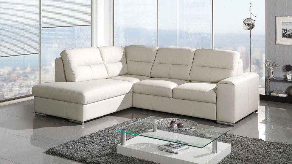 Andrea Corner Sofa Bed Blanco