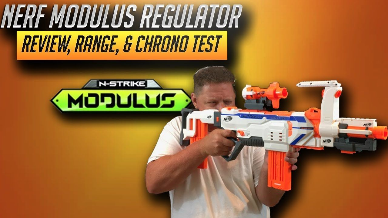 [Nerf Blaster Review] Nerf Modulus Regulator Review, Range, & Chrono Test