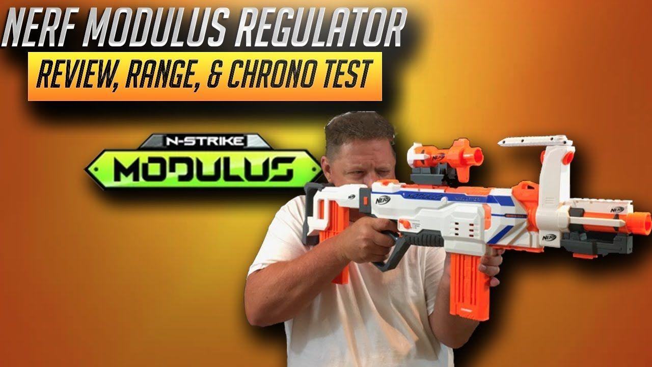[Nerf Blaster Review] Nerf Modulus Regulator Review, Range, & Chrono Test