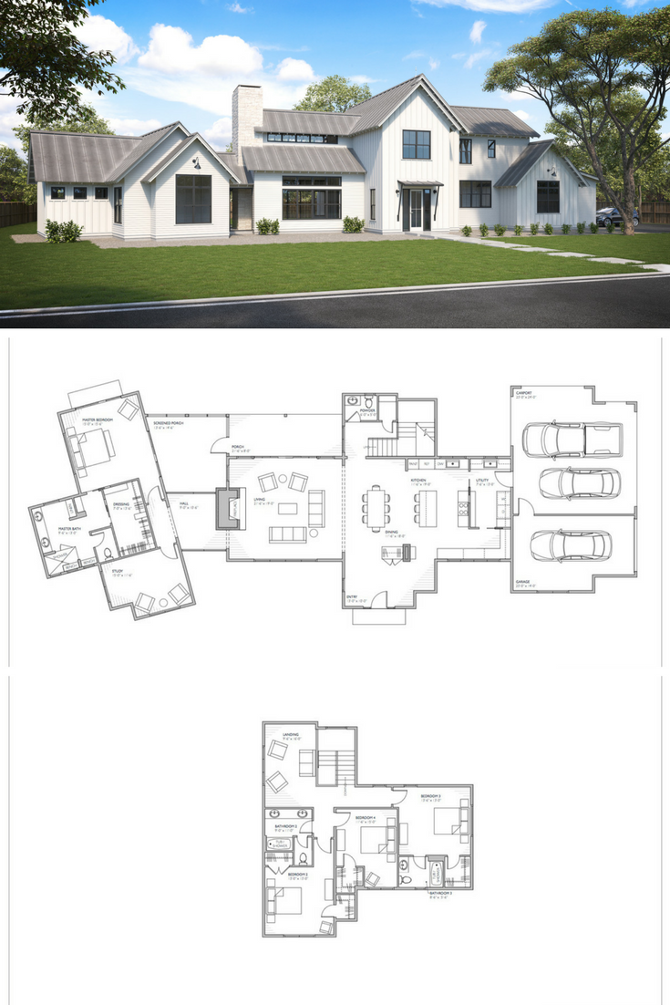 The Senepol Modern Farmhouse Floor Plans Now Available For Purchase At Www Perchplans Modern Farmhouse Floorplan House Plans Farmhouse Modern Farmhouse Floors