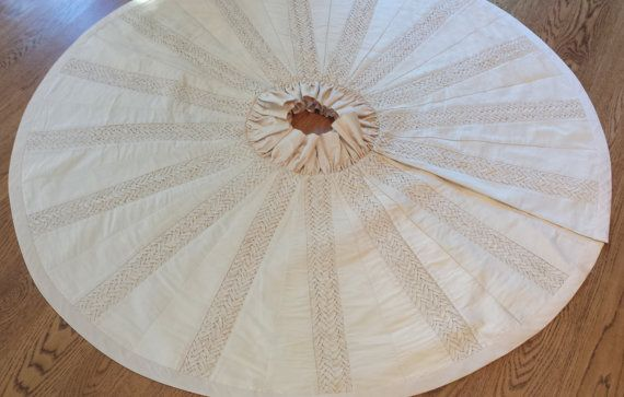 Luxury Ivory / Cream Silk Christmas Tree Skirt Pinterest Tree