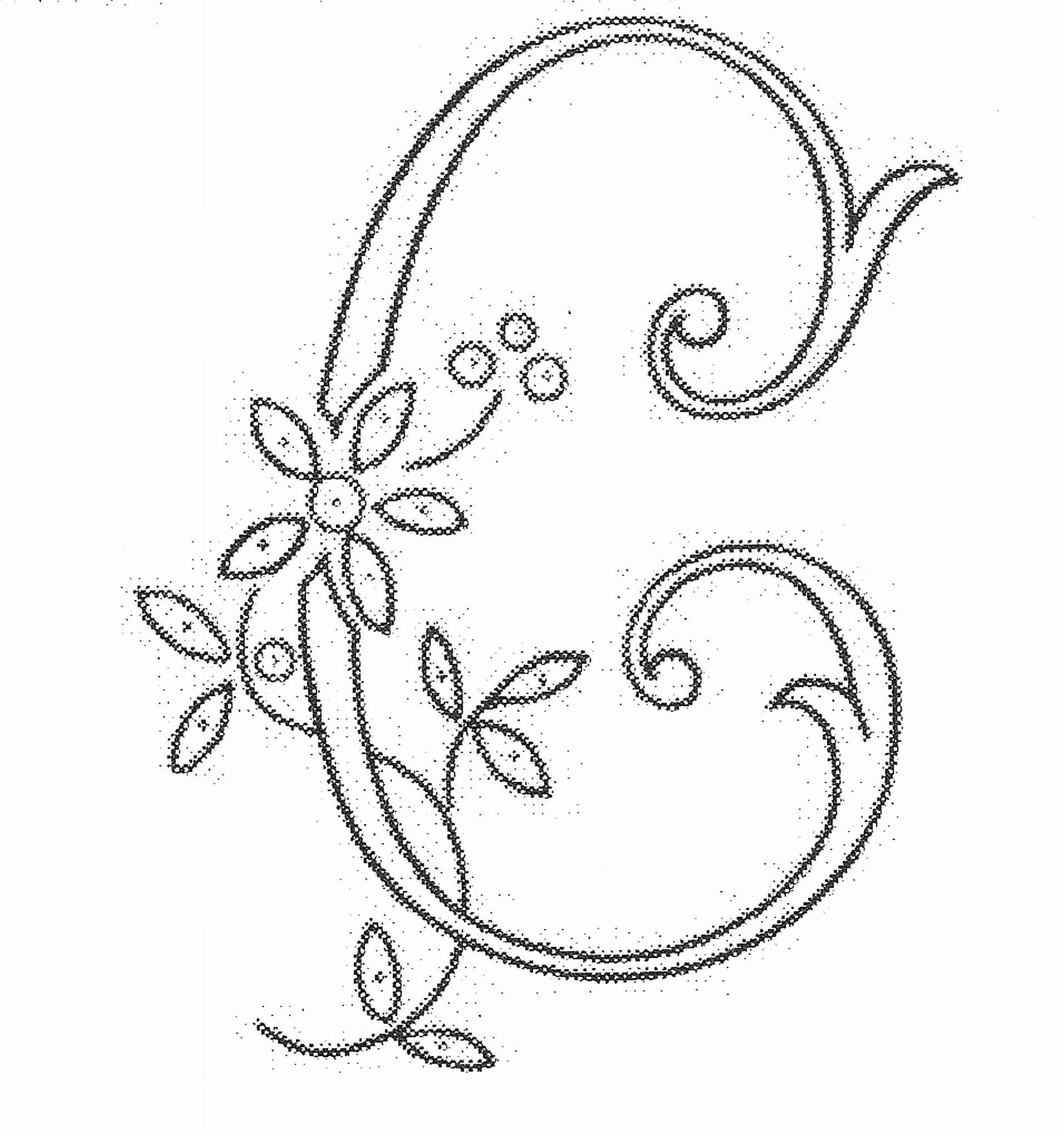 Decorative Letter C 03 04 2010 Monogram Embroideredletter C  Monograms Alphabet