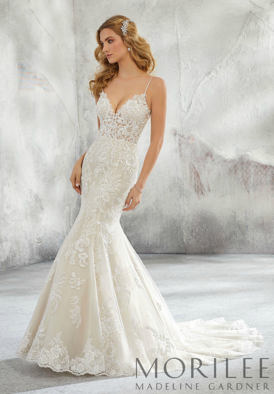 Lunetta Wedding Dress Morilee Fit And Flare Wedding Dress Short Sleeve Wedding Dress Mori Lee Wedding Dress [ 2630 x 1834 Pixel ]