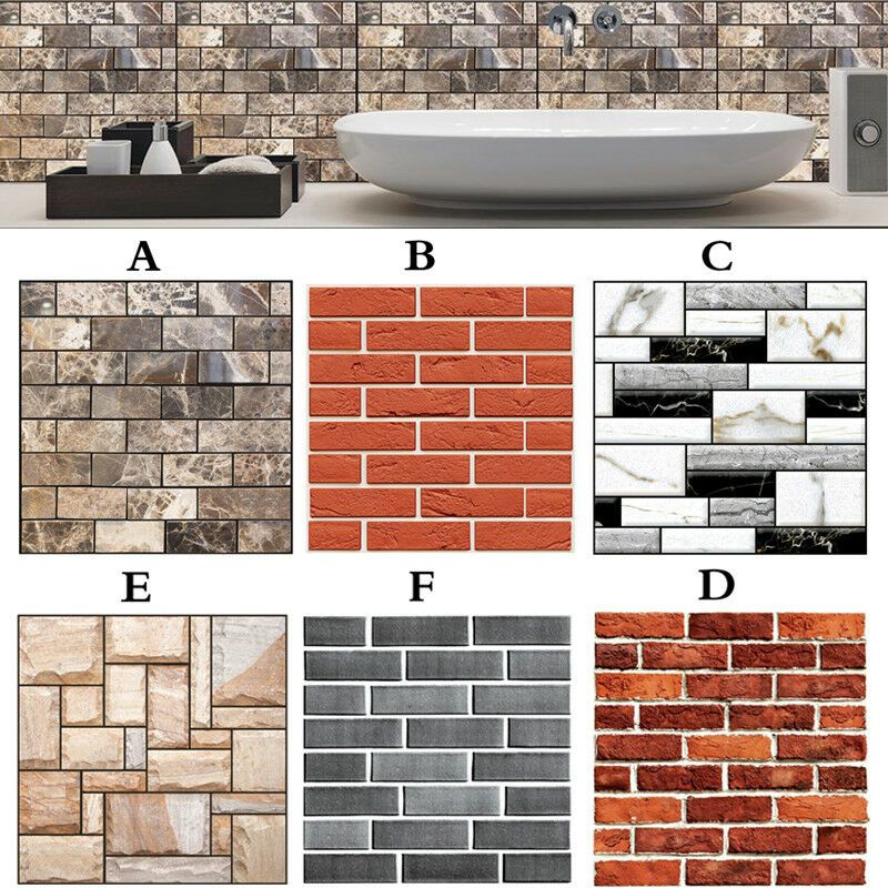 3d Tile Brick Wall Sticker Self Adhesive Panel Stickers Home Wall