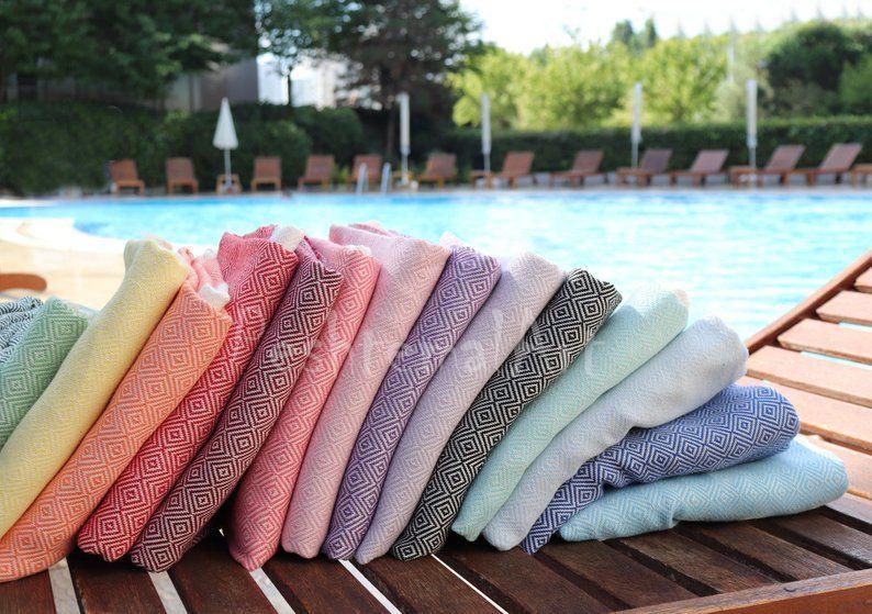 Diamond Turkish Towel Beach Towel Bridesmaid Gift Bachelorette