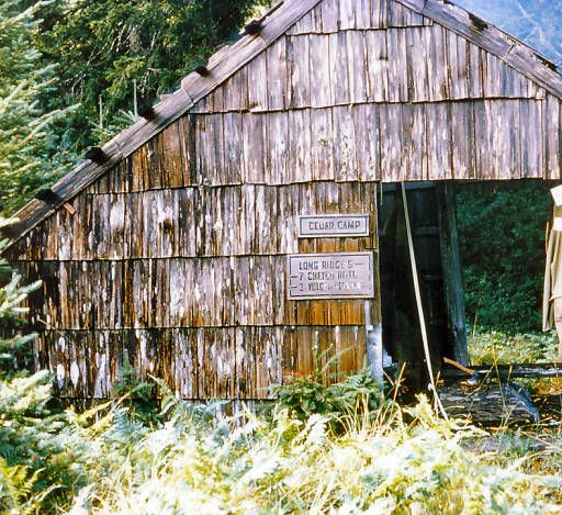 Cedar Camp Trail shelter, Upper Chetco Trail 1102 :: Kalmiopsis,  Wilderness, OR
