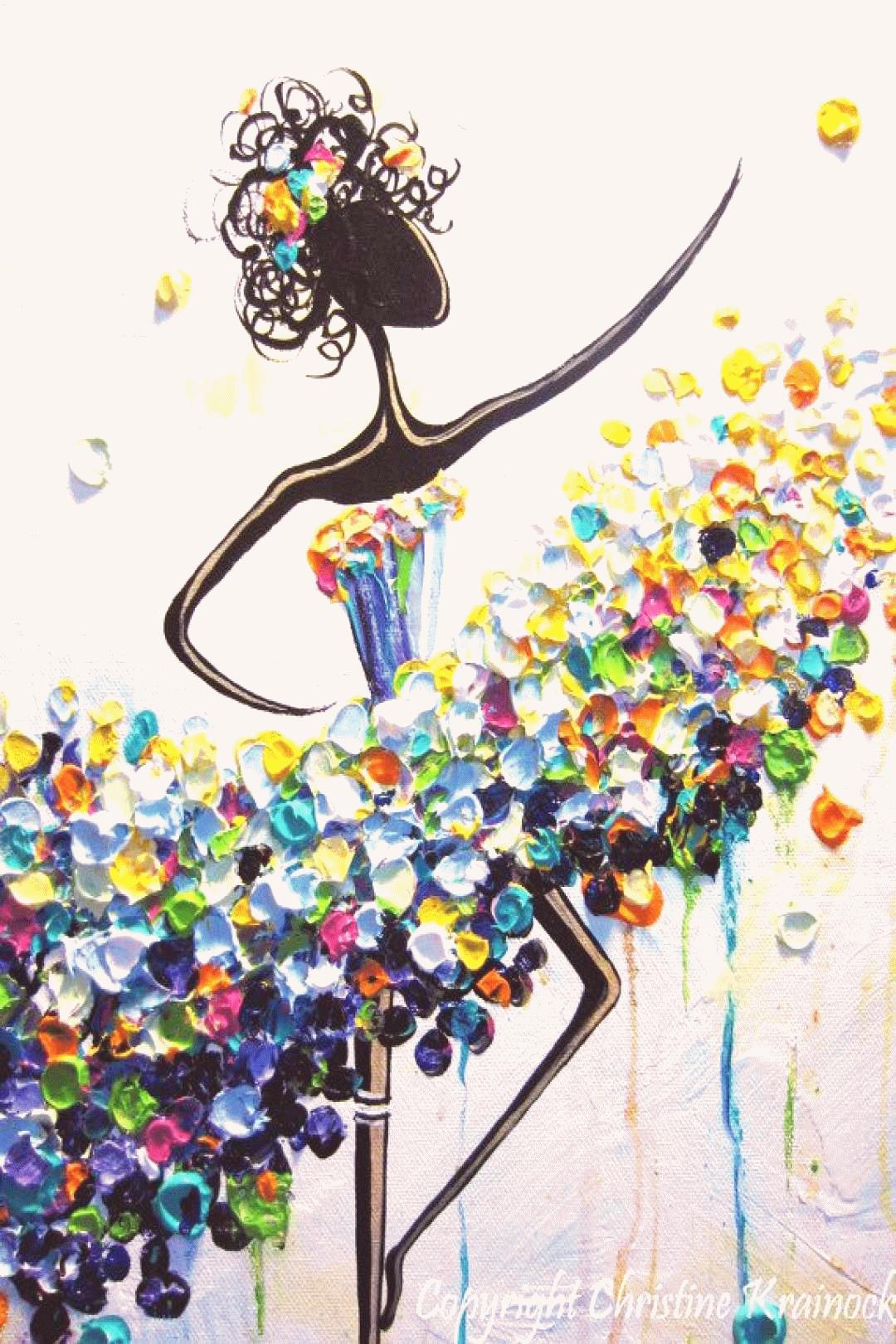 Les Danseurs de Félicité Illustration TOILE d'IMPRESSION d'IMPRESSION  d'Introduction Abstraite Bayad | Art coloré, Art abstrait, Toile imprimée