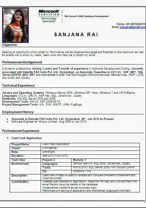 Best It Resume Examples Sample Template Example Ofexcellent
