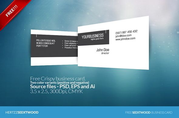 Free Crispy Business Card  Projects To Try    Business