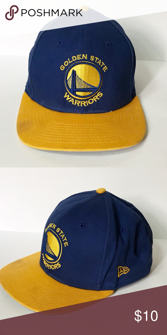 Golden State Warriors Snapback Cap Cheer on the Warriors! This snapback hat  is blue with a yellow brim. The Golden State Warriors logo is embroidered  on the ... 20e931f94ee1