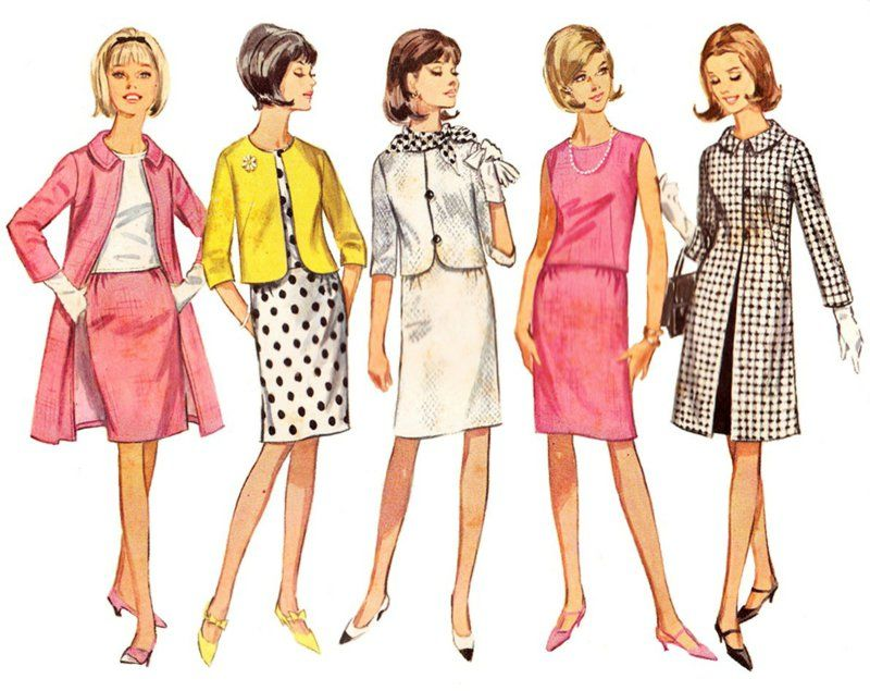 Vintage Kleider Aus Den Verschiedenen Dekaden Des 20 Jh 60er