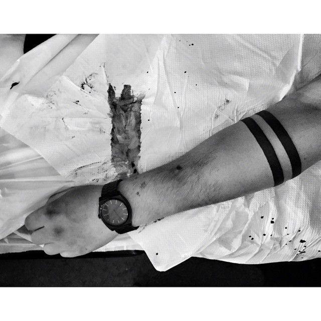 Blackwork arm band by Hanumantra Lamar