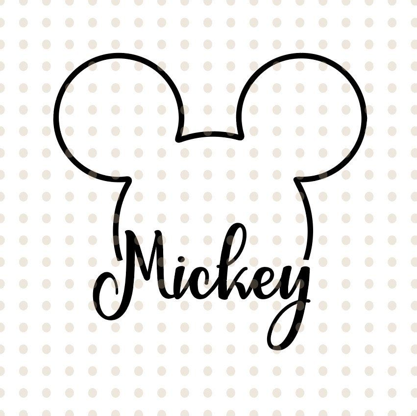 Mickey Mouse Svg Disney Mickey Mouse Head Svg Cricut Silhouette Svg File Instant Download Mickey M Mickey Mouse Tattoos Mickey Mouse Art Mickey Mouse Stickers