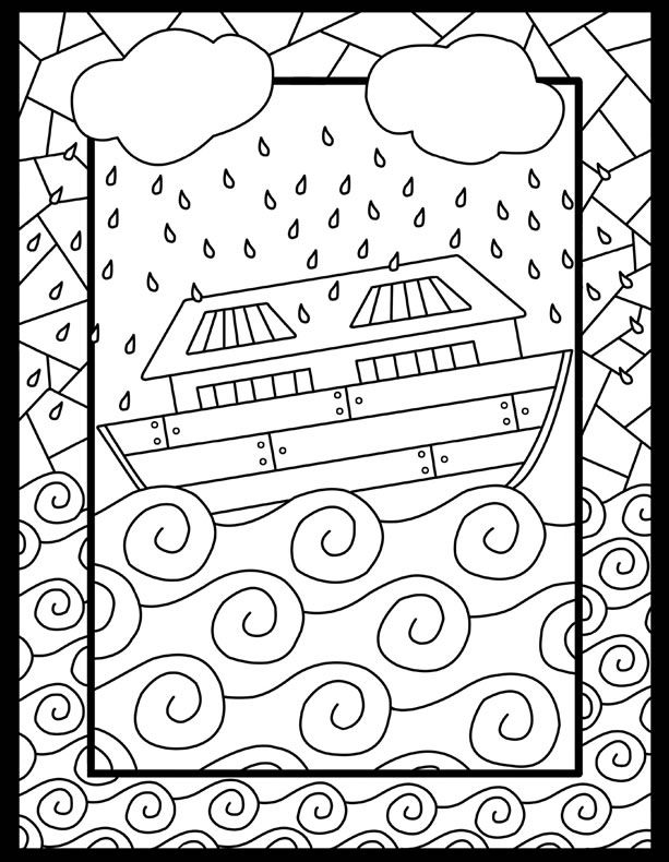 Six Noah S Ark Coloring Pages Vbs And Bible Crafts And Noah S Ark For Color Sheets