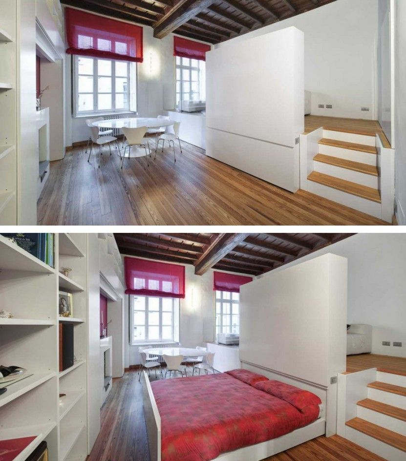 Hidden sliding Bed! Inspired. | lofty | Pinterest | Small ...