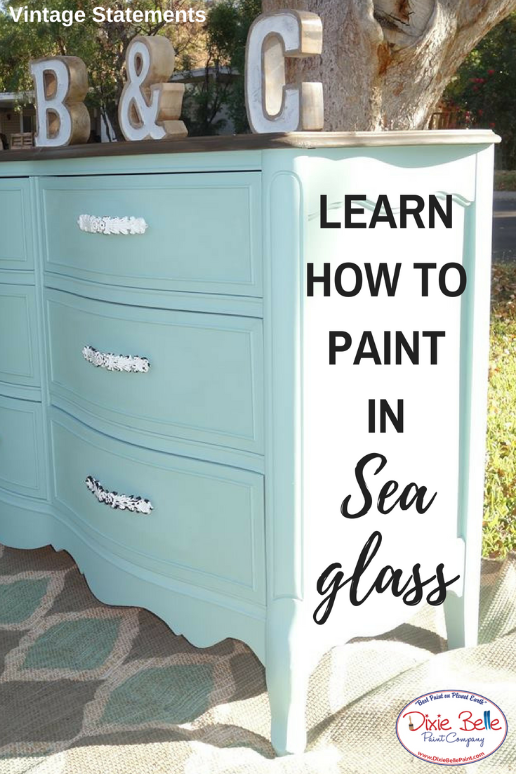 How To Use Sea Glass For A Stunning Finish Dixie Belle Paint
