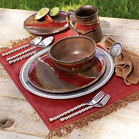 Western Red Sunset - hand thrown pottery dishes & Western Red Sunset - hand thrown pottery dishes | Dream Home ...