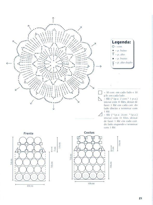 Top cuadrado con motivos redondos - Patrones Crochet | blusas ...