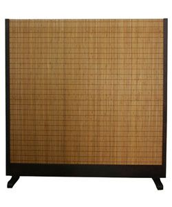 Beige Wood And Bamboo Take Free Standing Room Divider Screen China