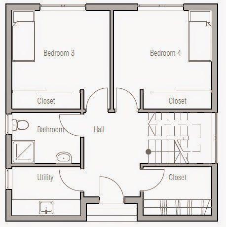 Planos de casa 3 pisos moderna peque a arquitectura y for Planos de casas de 3 pisos