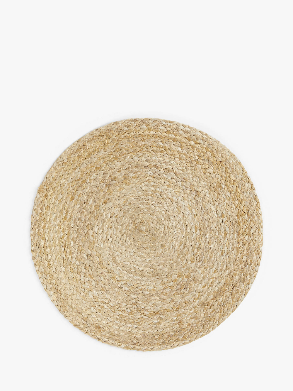 John Lewis Partners Round Jute Placemat Natural Woven Placemats Placemats Jute