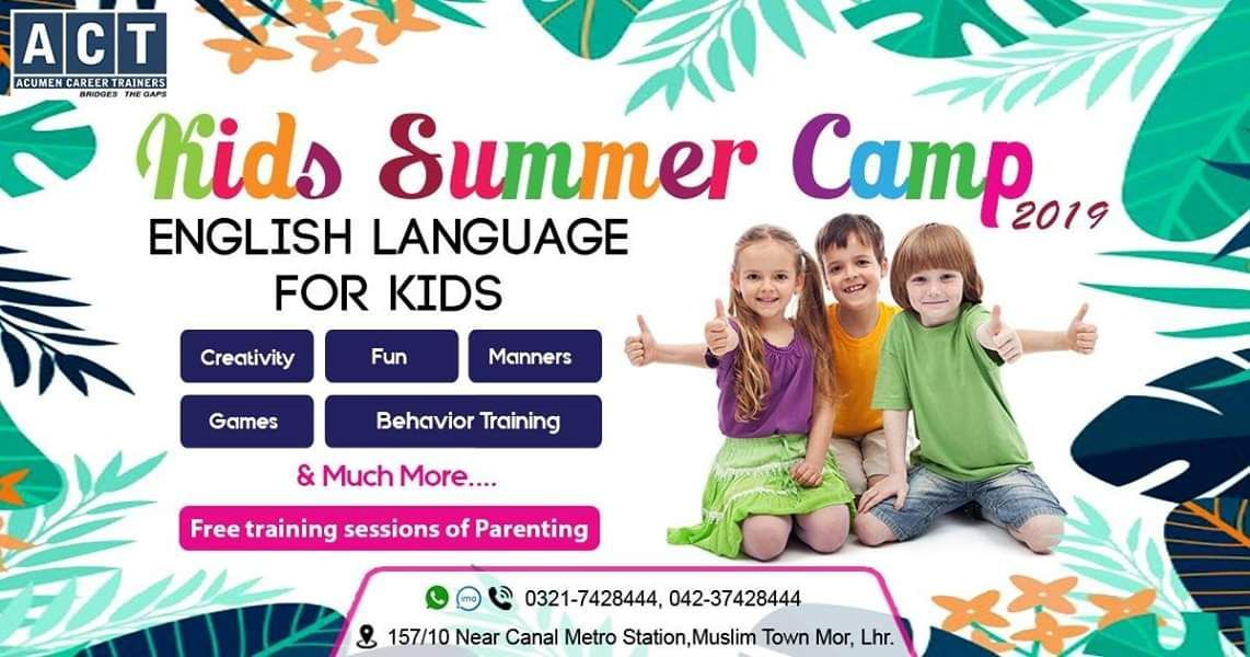 Summer camp plays a vital role in children's life because
