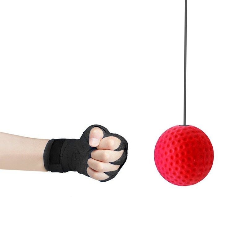 Boxing Reflex Speed Punch Ball Raising Reaction Force Hand EyeTraining Set