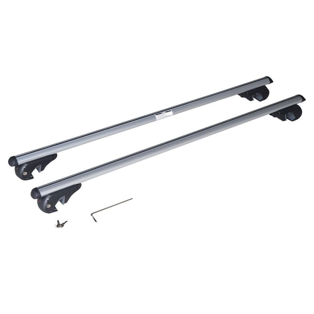Speedway Adjustable 52 In Pair Of Aluminum Top Cross Bar Cargo Roof Racks With Keys Lock 36002 Cargo Roof Rack Key Lock Cargo Rack
