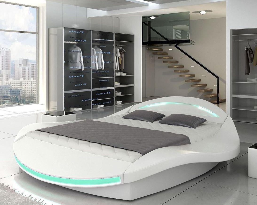 Lit design blanc avec coffre de rangement et let Socoop 140 | LesTendances.fr | Chambre ado lit ...