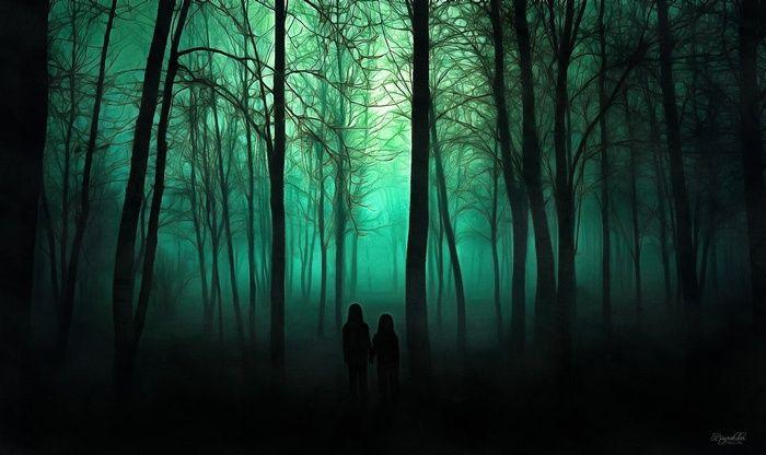 spooky, trees, wallpaper Halloween wallpaper, Diy