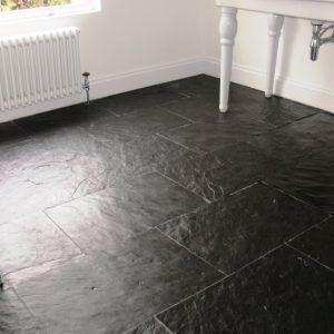 Large Black Slate Floor Tiles Black Slate Floor Slate Flooring