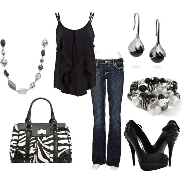 <3 this Black & Zebra outfit!